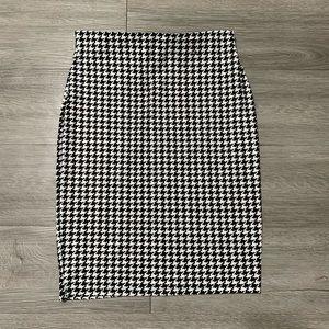 Black and White Midi Skirt .